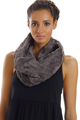 [Shop Lev] Faux Fur Infinity Scarf/Neck Warmer/Snood for Women and Men (GREY)