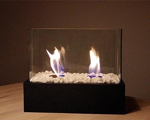 Chimenea de bioetanol mesa Chimenea Negro Fuego decorativo con ...