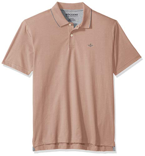 Dockers Men's Short Sleeve Performance Polo, Fawn, Small