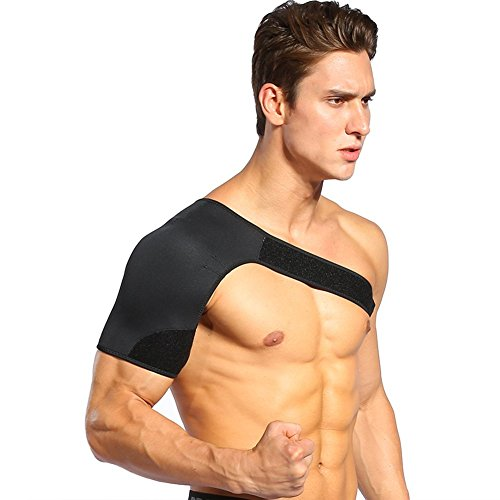 Arm Joint (Right Shoulder Support Brace for Rotator Cuff Pain Relief, Lightweight Neoprene Shoulder and Arm Wrap to Alleviate Dislocated AC Joint Pain for Men and Women (L(40