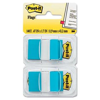 Standard Tape Flags in Dispenser, Bright Blue, 100 Flags/Dispenser