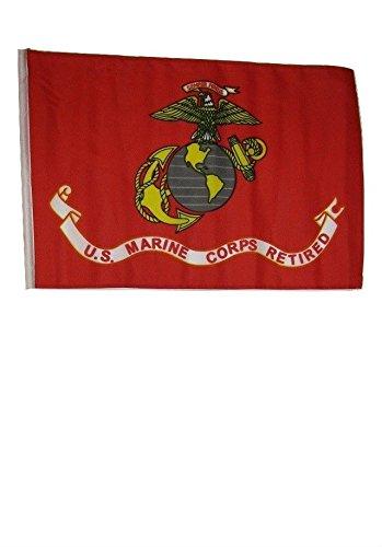 "12x18 12/""x18/"" USMC Retired Marines Marine Corps Sleeve Flag Boat Car Garden"