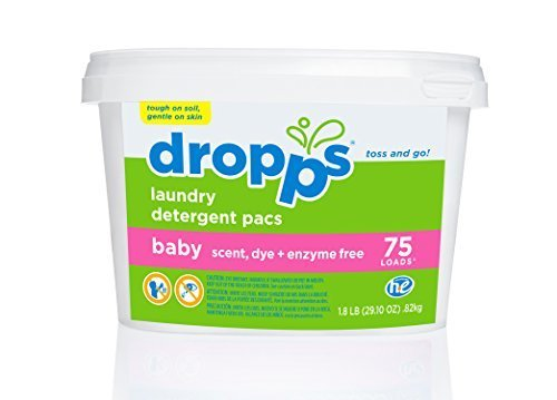 Dropps Baby Laundry Detergent Packs, Baby, 75 Count by Dropps