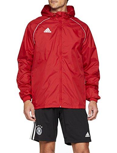 adidas Core 18 Rain Jacket - Adult - Red/White - 3XL