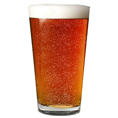 Nucleated 16oz Pint Glass - More Head, More Flavor, Better Beer! (Dab Beer Mug)