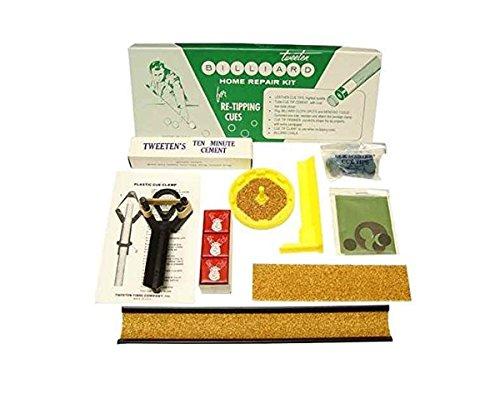 Tweeten Billiard Home Repair Kit for Re-Tipping Cues