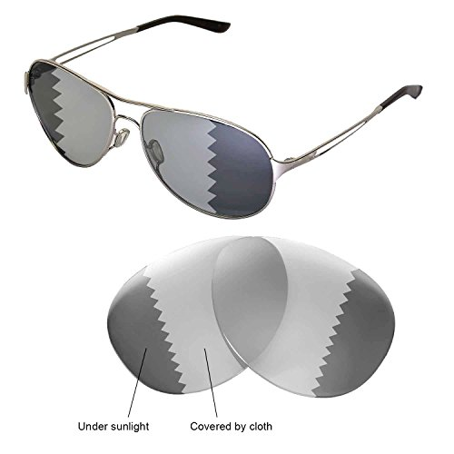 b4328c05af248 Galleon - Walleva Replacement Lenses For Oakley Caveat Sunglasses -  Multiple Options Available (Transition photochromic - Polarized)