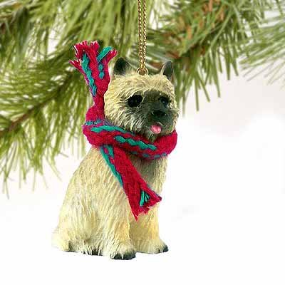 Cairn Terrier Miniature Dog Ornament - Red