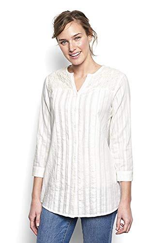 Orvis Women's Lace-Yoke Tunic, X Large White