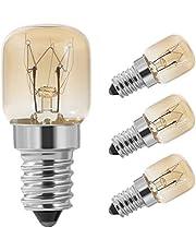 Vicloon Ovenlamp, 4 stuks T22 15W fornuisgloeilamp, SES/E14-schroeffitting, hittebestendig tot 300 °C, 220-240 V AC/DC, 80 lm, 2200 K warm wit, Pygmy lampen voor zoutlamp en oven