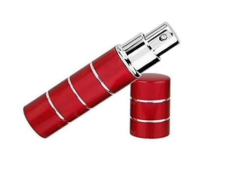 Caomoa Fashion Travel Refillable 10ML Mini Perfume Bottle Atomizer Spray size 10ml (Rose Red)