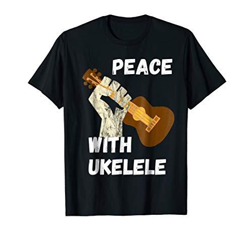 Peace Ukelele Freedom Hawaiian Music Guitarist Harmony Shirt