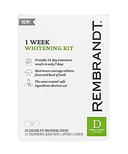 Whitening Trays Rembrandt - Rembrandt 1 Week Teeth Whitening Kit, 28 Custom Fit Whitening Strips (Pack of 2)