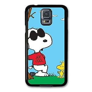 Charlie Brown and Snoopy 2 S8V3PH4D Caso funda Samsung Galaxy S5 Caso funda Negro