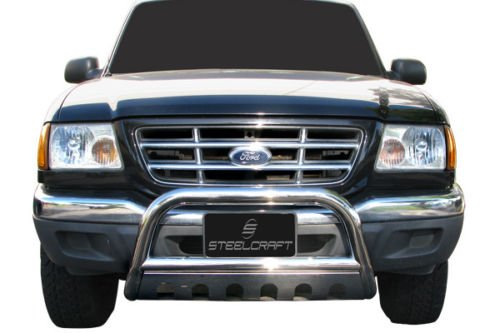 Steelcraft Stainless Steel Bumper Skid Plate Fits Brush Guard 98-11 FORD RANGER / RANGER EGDE (EXCL. STX) BULL BAR S/S 98-11 FORD RANGER / RANGER EGDE (EXCL. STX) BULL BAR S/S (4X4 models equipped with skid plate must be removed)