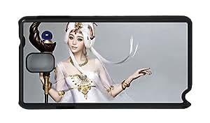 Stylish Samsung Note 3 case cool White dress fantasy girl PC Black for Samsung Note 3/Samsung N9000