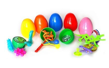 1000 ~ Toy Filled Easter Eggs - (1 Item) Toys, Stickers and Tattoo Filled (1000 Pieces) by Gifts Galore Snap Tight Easter Eggs