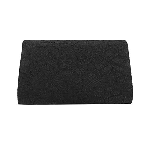 Wedding for Classic Clutch Prom Charming Lace Evening Black Tailor Bag Envelope q7fgzTx