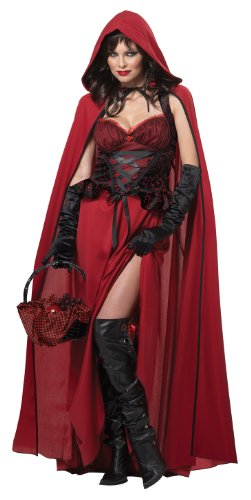 California Costumes Women's Dark Red Riding Hood Adult, Red, -