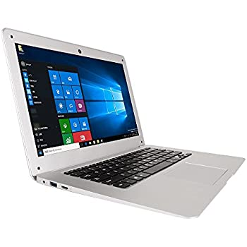 Jumper EZbook 2 FHD 4GB RAM 64GB eMMC Laptop Computer 14.1 Inch Intel Quad Core Windows 10 1080P HD Graphics 500 Silver Notebook