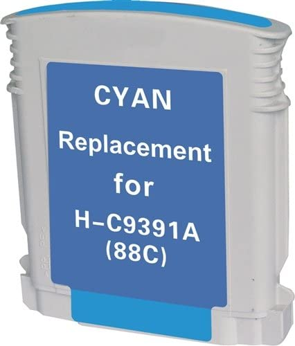 K550 Replacement for HP C9391AN etc; Cyan Ink: RC9391 OfficeJet Pro K5400 MG Re-Manufactured Inkjet Cartridges 88XL Cyan; Models: Officejet K550 9386AN