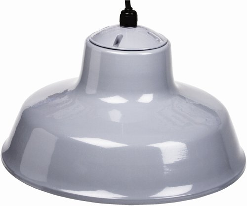 Designers Edge L-1712 14-Inch Indoor One-Light Downward Hanging Farm Light Fixture, Powder Coated