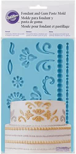 Wilton 409-2529 Damask Fondant Mold, Teal