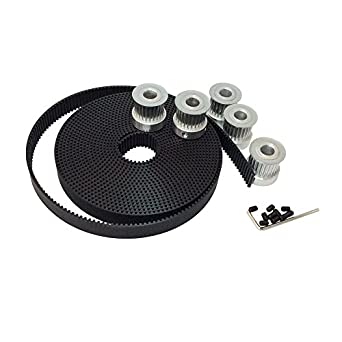 BEMONOC HTD 3M Open Ended PU Timing Belt Width 15mm for CNC Laser Engraving Machines Pack of 5Meters
