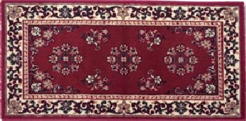 Oriental Virgin Wool Hearth Rug - 22 x 44 Burgundy Oriental Virgin Wool Hearth Rug
