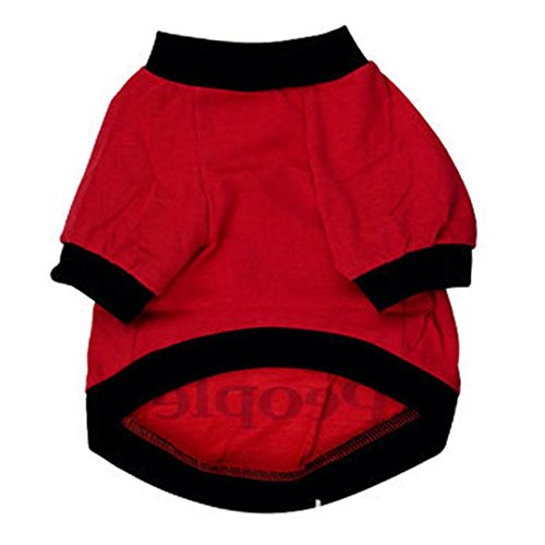 Image of Dog Clothes,Laimeng, New Small Large Dog Cats Summer Clothes T Shirt Sweatshirt Costumes (L, Red)