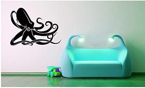 Amazon Com Kraken Decal Octopus Decal Octopus Decor Ocean Decor Sea Decal Kids Wall Art Home Decor Bathroom Decor Childrens Bedroom Decor And Stick Made In Usa Kitchen Dining