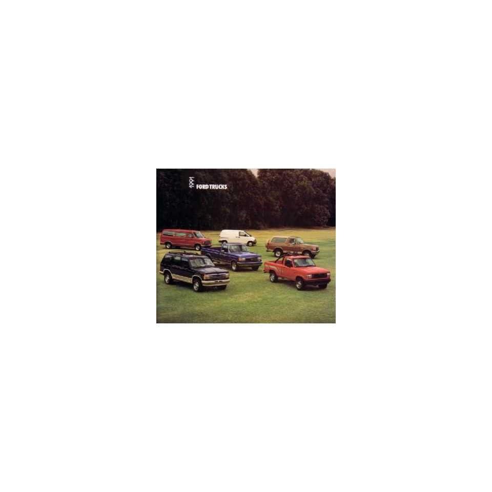 1991 Ford Truck Sales Brochure Literature Book Piece Advertisement Specs Options