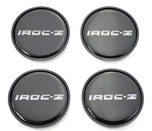 GM Restoration 1985-1987 IROC Z Camaro Z28 16 inch Aluminum Wheel Center Caps Silver Set of 4 New ()