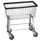 Economy Laundry Cart, basket color: Chrome