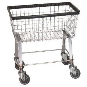 Economy Laundry Cart, basket color: Chrome by R&B Wire Products