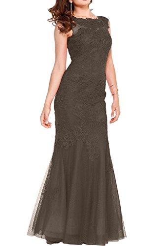 Abschlussballkleider Rot Lang Braut Promkleider Damen La Braun Ballkleider Spitze Etuikleider Marie wAH88xUq