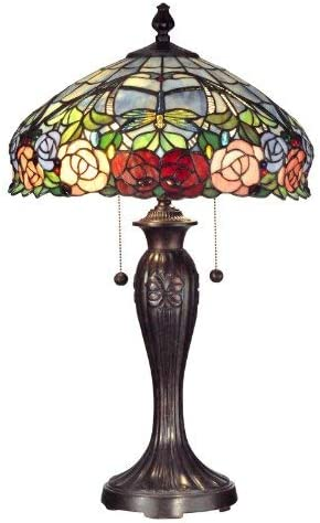 Dale Tiffany TT12232 Tiffany/Mica Two Light Table Lamp