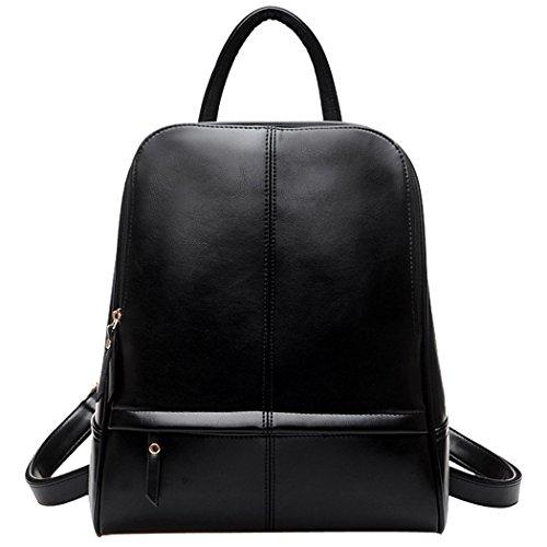 Coofit Damen Leder Rucksack Handtaschen Damen Tagesrucksäcke Mädchengymnasium Vintage Reisetasche