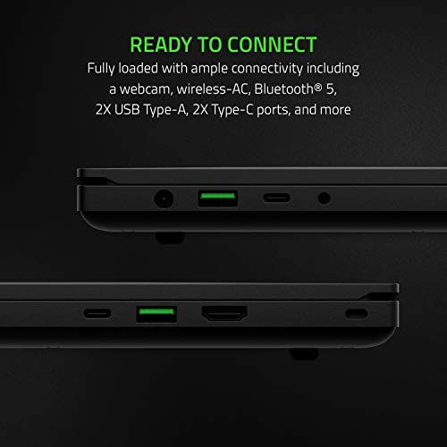 Razer Blade 15 Base Gaming Laptop 2020: Intel Core i7-10750H 6-Core, NVIDIA GeForce GTX 1660 Ti, 15.6″ FHD 1080p 120Hz, 16GB RAM, 256GB SSD, CNC Aluminum, Chroma RGB Lighting, Thunderbolt 3, Black 41H8YV8VDPL