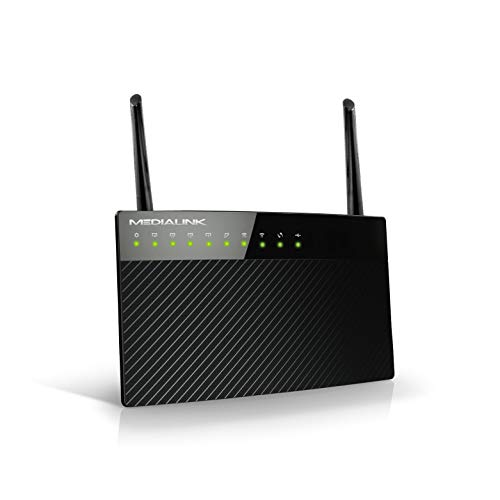 Medialink AC1200 Wireless Gigabit Router - Gigabit (1000 Mbps) Wired Speed & AC 1200 Mbps Combined Wireless Speed (Part# MLWR-AC1200R) (Renewed)