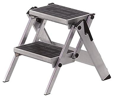 Neolab 6622 - Escalera de seguridad (2 piezas, 2 peldaños de aluminio, acolchada, tapicería): Amazon.es: Industria, empresas y ciencia