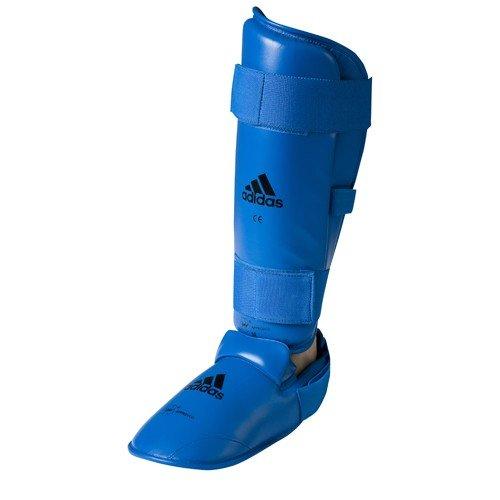adidas WKF Schienbein- und abnehmbare Ristschoner, blau S