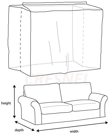 41H8Z CbUOL. AC CRESNEL Furniture Cover Plastic Bag for Moving Protection and Long Term Storage (Sofa)    This extra thick plastic bag will withstand tear and rip from moving. Made with premium grade all new, non-recycled plastic it is highly durable, able to keep your sofa well protected even in long term storage. Money back satisfaction guarantee.