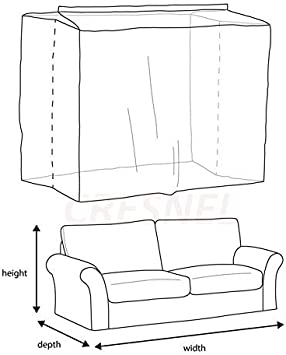CRESNEL Furniture Cover Plastic Bag for Moving Protection and Long Term Storage Sofa