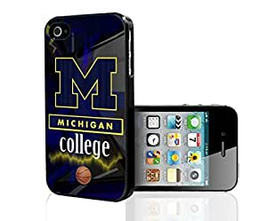 Michigan College Basketball Sports Hard Snap on Phone Case (iPhone 5/5s)