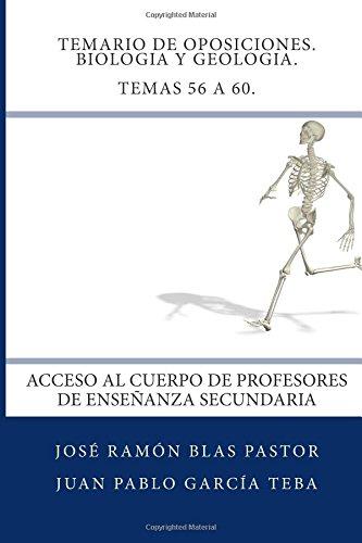 Descargar Libro Temario De Oposiciones. Biologia Y Geologia. Temas 56 A 60.: Acceso Al Cuerpo De Profesores De Enseñanza Secundaria Prof Jose Ramon Blas Pastor