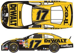 (2006 Team Caliber Pit Stop . . . Matt Kenseth #17 DeWalt Ford Taurus 1/64 Diecast . . . Limited Edition)