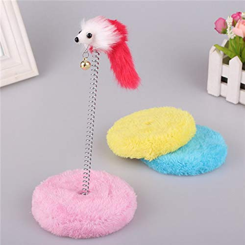 Amazon.com : Best Quality New Funny Plate cat Sticks Toys Circle Mouse Ball pet Home Climbing Frame Spring Bells Scratching pad Posts Products pe40 : Pet ...