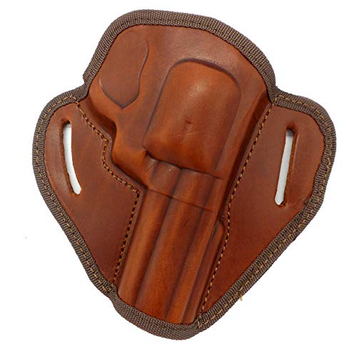 HOLSTERMART USA CEBECI ARMS Brown Leather Open Top Right Hand Belt Holster for Smith & Wesson S&W Model 586, 686, 625, 29 Classic Revolver, 4