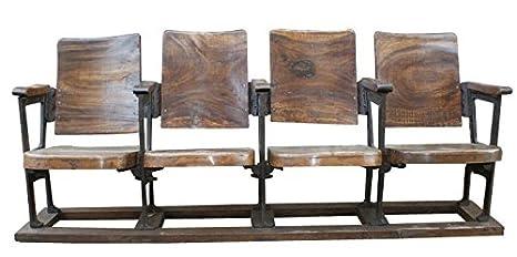 Butaca cine antigua de madera